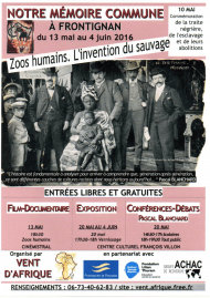 <i>Zoos humains, l&rsquo;invention du sauvage<i> à Frontignan